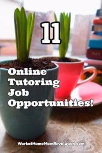 11 online tutoring job opportunities
