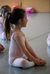 little girl ballerina in pink