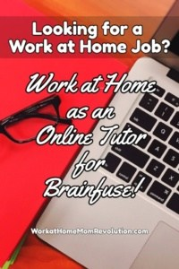 Work at Home Online Tutor Jobs with Brainfuse!