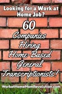 60 General Transcription Companies