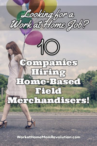 Home-Based Field Merchandising Jobs