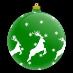 green-Christmas-ball-reindeer-image