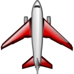 Jet-red-white-gray-image