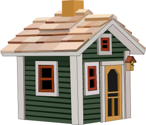 green-cottage-graphic-image
