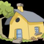 house-blue-door-yellow-exterior-image