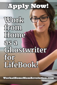 work from home as a ghost writer for LifeBook