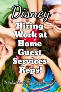 Disney Hiring Work at Home Guest Services Representatives