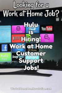 Hulu Work at Home Customer Service Jobs