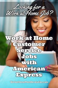 work at home customer service American Express