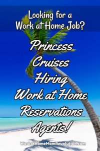Work at Home Jobs with Princess Cruises!