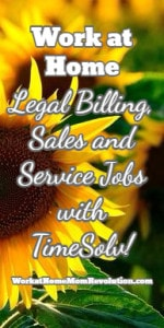 Work at Home Legal Billing, Sales and Service Jobs with TimeSolv!