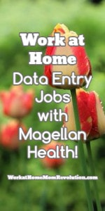 Work at Home Data Entry Jobs with Magellan Health!