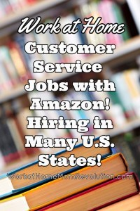 Amazon Work at Home Customer Service Jobs