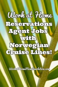 Norwegian Cruise Lines Home-Based Reservations Jobs!