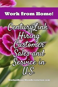 Work at Home: CenturyLink Hiring Sales and Service in the U.S.