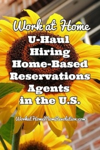 Work at Home: U-Haul Reservations Jobs in U.S.