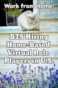 Work at Home Virtual Role Player Jobs with BTS!