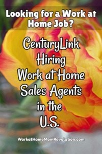 CenturyLink Hiring: Work at Home Agents in the U.S.
