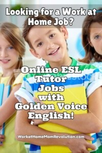 Work at Home Online Tutor Jobs with Golden Voice English!