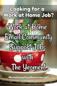 Work at Home Email Community Support Jobs with The Yeomen!