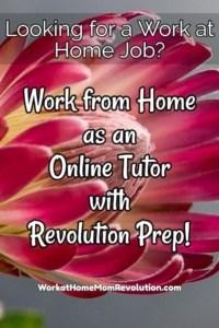 Work at Home: Revolution Prep Hiring Online Tutors!