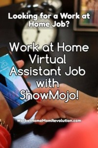 Work at Home Virtual Assistant Job with ShowMojo!