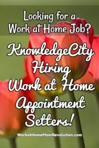 Work at Home Appointment Setting Jobs with KnowledgeCity