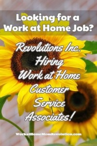 Home-Based Customer Support Jobs with Revolutions Inc.