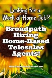 Work at Home: Broadpath Hiring Telesales Agents