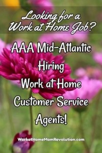 Work at Home Jobs with AAA Mid-Atlantic
