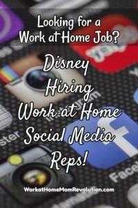 Disney Social Media Rep Jobs: Now Hiring!