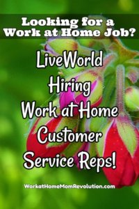 LiveWorld Work at Home Customer Service Jobs