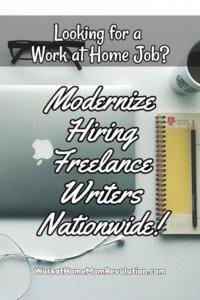 Freelance Writing Jobs with Modernize