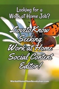Work at Home: LovetoKnow Social Content Editor Job