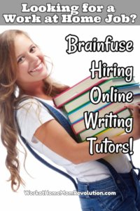 Work at Home Online Writing Tutor Jobs with Brainfuse