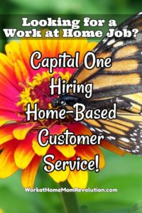 Capital One Work at Home Customer Service Jobs