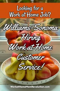 Williams-Sonoma Hiring Work at Home Agents in 5 States