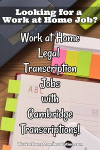 Cambridge Transcriptions is hiring experienced home-based legal transcriptionists to transcribe court proceedings, depositions, arbitrations, and more.