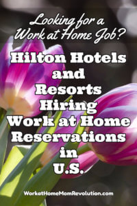 Work at Home: Hilton Hiring Work at Home Reservations in U.S.