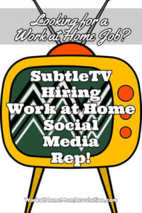 Work at Home: SubtleTV Social Media Rep Job