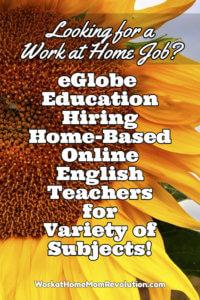 Home-Based English Teaching Jobs with eGlobe Education