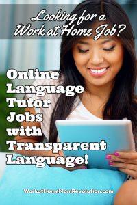online language tutor jobs