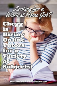 Work at Home: Online Tutor Jobs with Chegg