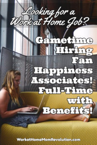 Work at Home Fan Happiness Jobs with Gametime