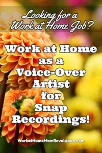 Work at Home Voice-Over Artist Jobs with Snap Recordings