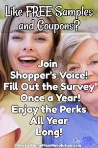 Do you enjoy being rewarded with free samples, money-saving coupons, and special offers? If so, then you should definitely check out Shopper's Voice!