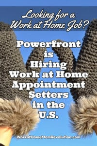Work at Home Appointment Setting Jobs with Powerfront