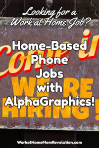 Home-Based Phone Setting Jobs with AlphGraphics