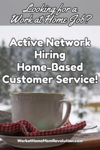 Home-Based Jobs with Active Network