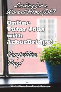 Work at Home: Online Tutor Jobs with ArborBridge